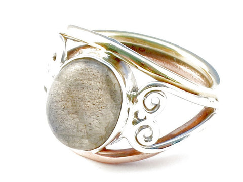 Design 104749 Labradorite Gemstone .925 Sterling Silver Ring Size 6
