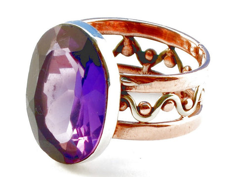 Design 105191 Purple Amethyst .925 Sterling Silver Ring Size 6