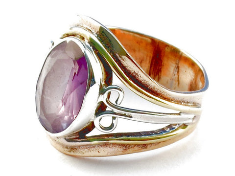 Design 105361 Amethyst .925 Sterling Silver Ring Size 6