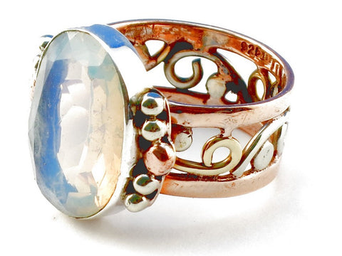 Design 105193 Opalite .925 Sterling Silver Ring Size 6