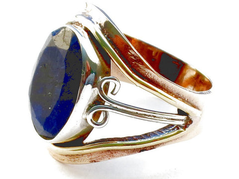 Design 105369 Sapphire .925 Sterling Silver Ring Size 6