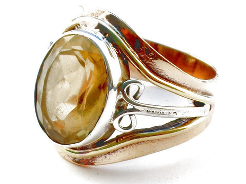 Design 105372 Citrine .925 Sterling Silver Ring Size 6