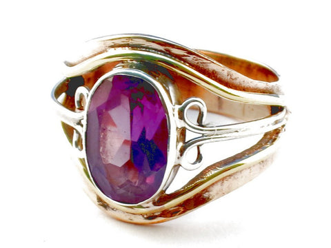 Design 105389 Purple Amethyst .925 Sterling Silver Ring Size 7