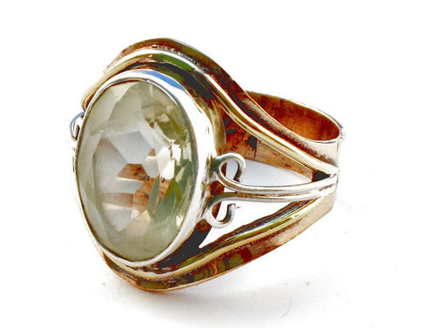 Design 105412 Citrine .925 Sterling Silver Ring Size 8