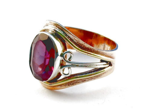 Design 105422 Pink Amethyst .925 Sterling Silver Ring Size 8