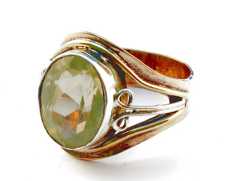 Design 105436 Citrine .925 Sterling Silver Ring Size 9