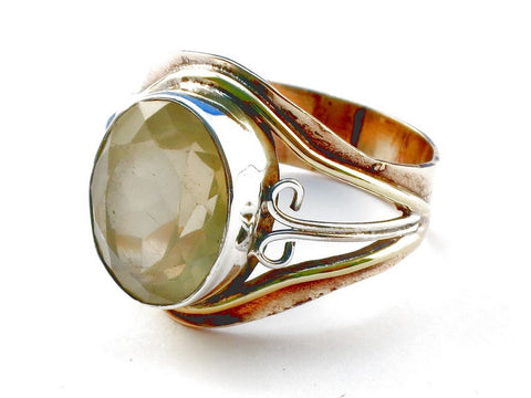 Design 105438 Citrine .925 Sterling Silver Ring Size 9