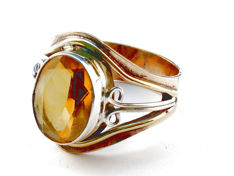 Design 105444 Citrine .925 Sterling Silver Ring Size 9