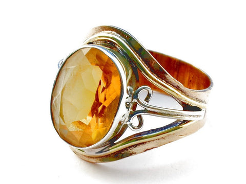 Design 105453 Citrine .925 Sterling Silver Ring Size 9