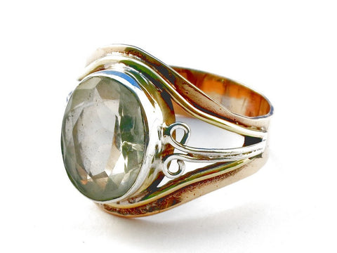 Design 105455 White Topaz .925 Sterling Silver Ring Size 9