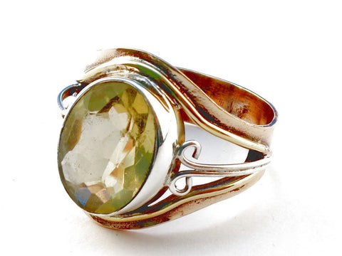 Design 105460 Citrine .925 Sterling Silver Ring Size 9