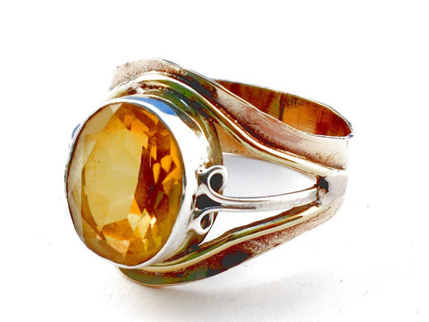 Design 105469 Citrine .925 Sterling Silver Ring Size 9