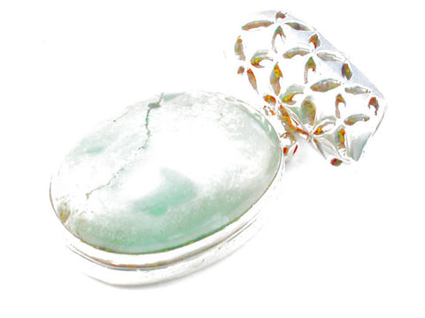 Design 103455 Turquoise .925 Sterling Silver Pendant 1 3/4""