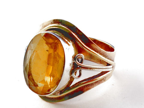 Design 105476 Citrine .925 Sterling Silver Ring Size 9