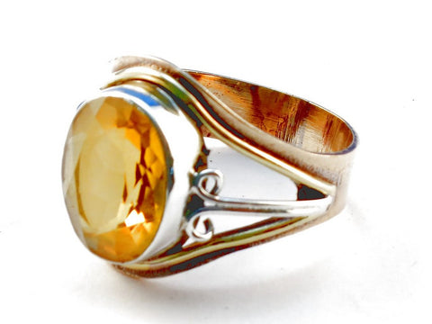 Design 105497 Citrine .925 Sterling Silver Ring Size 10