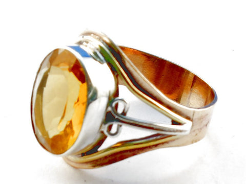 Design 105507 Citrine .925 Sterling Silver Ring Size 10