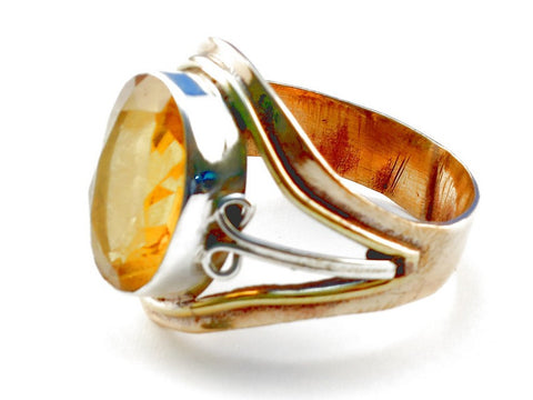 Design 105515 Citrine .925 Sterling Silver Ring Size 10