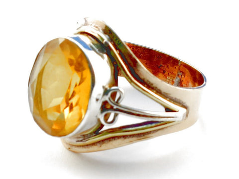Design 105516 Citrine .925 Sterling Silver Ring Size 10