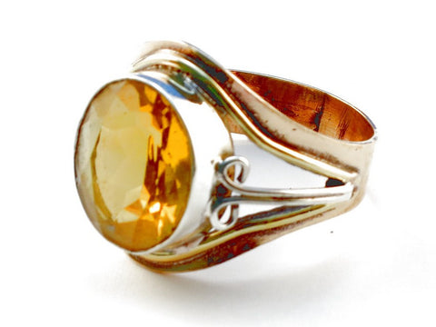 Design 105519 Citrine .925 Sterling Silver Ring Size 10