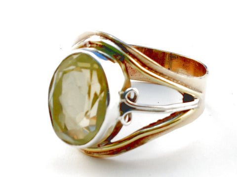 Design 105522 Lemon Topaz .925 Sterling Silver Ring Size 10