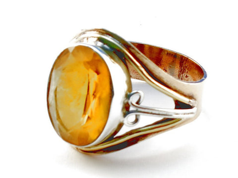 Design 105525 Citrine .925 Sterling Silver Ring Size 10