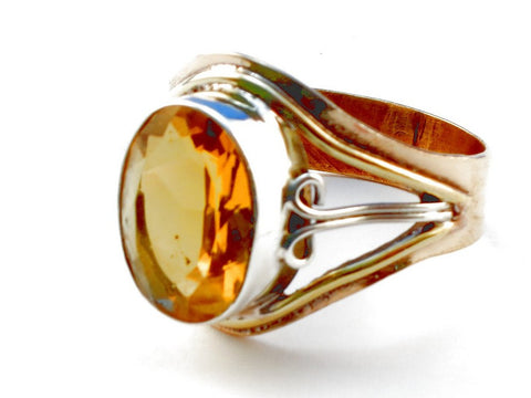 Design 105528 Citrine .925 Sterling Silver Ring Size 10