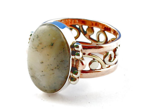 Design 105275 Dentrite Opal .925 Sterling Silver Ring Size 9