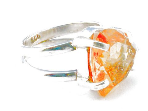 Design 103913 Citrine .925 Sterling Silver Ring Size 6