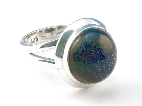 Design 103978 Blue Sunstone .925 Sterling Silver Ring Size 7