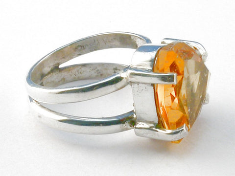 Design 103990 Citrine .925 Sterling Silver Ring Size 6