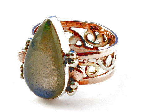 Design 105280 Labradorite .925 Sterling Silver Ring Size 9