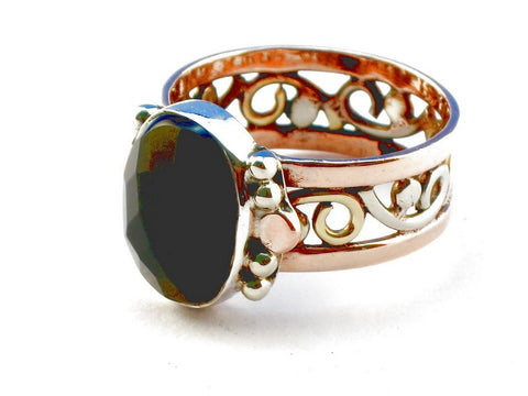 Design 105285 Black Onyx .925 Sterling Silver Ring Size 9