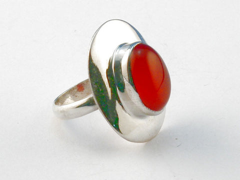 Design 104057 Carnelian .925 Sterling Silver Ring Size 6