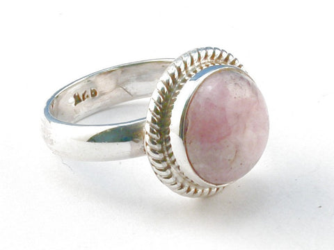 Design 104067 Rhodocrosite .925 Sterling Silver Ring Size 7
