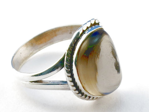 Design 104109 Opalite .925 Sterling Silver Ring Size 8