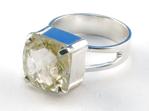 Design 104134 Green Amethyst .925 Sterling Silver Ring Size 6