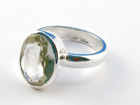 Design 104216 Green Amethyst .925 Sterling Silver Ring Size 9