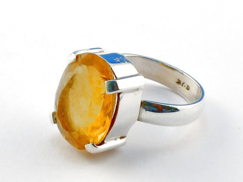 Design 104221 Citrine .925 Sterling Silver Ring Size 6