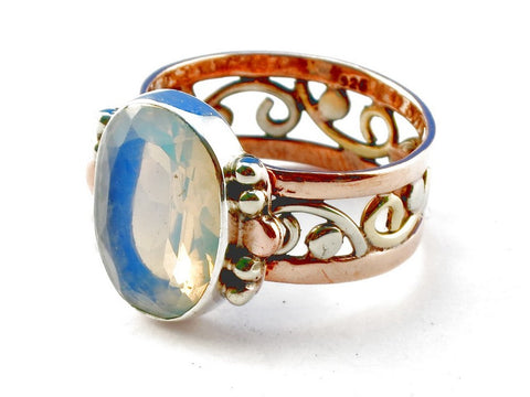 Design 105298 Opalite .925 Sterling Silver Ring Size 9
