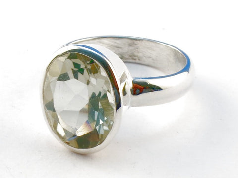 Design 104319 Green Amethyst .925 Sterling Silver Ring Size 6