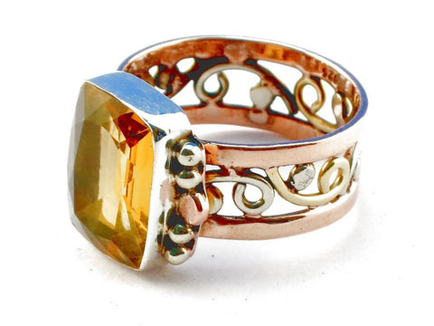 Design 105305 Citrine .925 Sterling Silver Ring Size 10