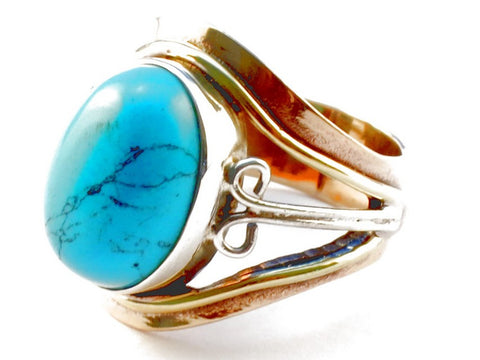 Design 105317 Turquoise .925 Sterling Silver Ring Size 5