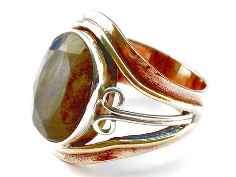 Design 105328 Labradorite .925 Sterling Silver Ring Size 5