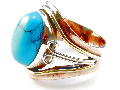 Design 105329 Turquoise .925 Sterling Silver Ring Size 5