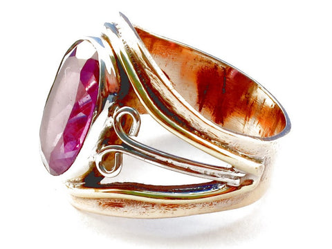Design 105331 Pink Amethyst .925 Sterling Silver Ring Size 5
