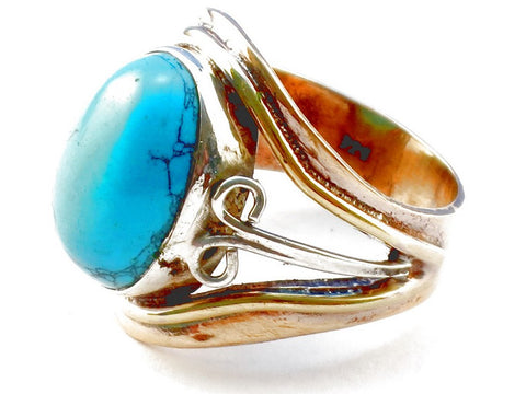 Design 105335 Turquoise .925 Sterling Silver Ring Size 5