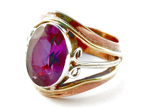 Design 105346 Pink Topaz .925 Sterling Silver Ring Size 5