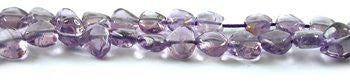 Bead Supplies Purple Amethyst Heart Beads Strand 15""
