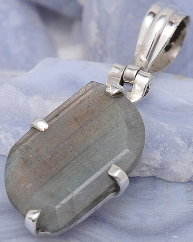 Jewelry Shop Labradorite  .925 Sterling Silver Jewelry Pendants 1.6""