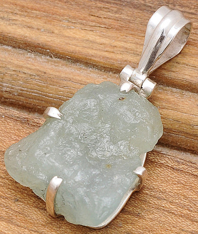 Artistic Aquamarine .925 Sterling Silver Jewelry Pendant 1.5""